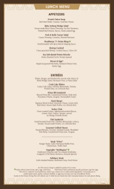 Steakhouse 71 Menu 2