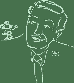Walt Disney and friend