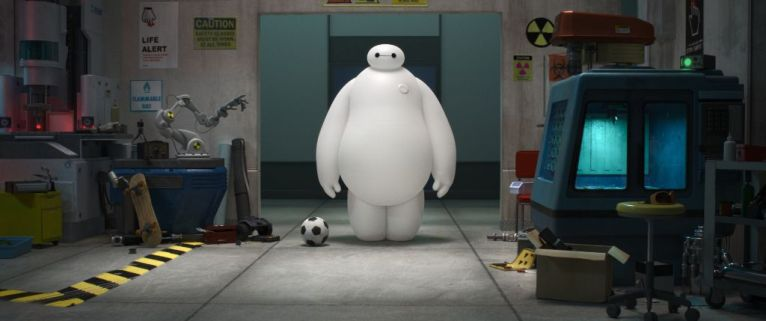 """BIG HERO 6"" MEET BAYMAX — A robot named Baymax befriends robotics prodigy Hiro Hamada, and together—along with an unlikely band of high-tech heroes—they race to solve a mystery unfolding in the streets of San Fransokyo. ""Big Hero 6"" is in theaters Nov. 7, 2014. ©2014 Disney. All Rights Reserved."