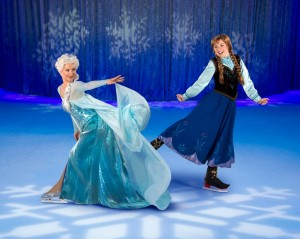 Royal sisters Anna and Elsa skating to life in Disney On Ice presents Frozen based on the Academy Award-winning film.