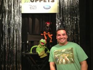 Meeting Kermit & Pepe - courtesy of Marc A., NDU