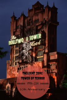 Twilight Zone Tower of Terror 20th Anniversary