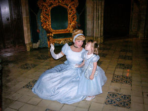 a chance one on one encounter with Cinderella - in the Castle!