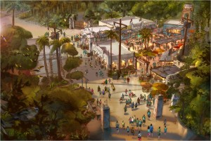 Imagine the colors, scents and boundless activity of a village marketplace in Africa. That sensory scene is coming to DisneyÕs Animal Kingdom with a spring 2015 opening planned for Africa Marketplace Ð a new shopping and dining option for park-goers in Harambe, the village anchoring the Africa section of the park.ÊOne highlight of the new space will be Harambe Marketplace, a new quick-service food and beverage location offering street-inspired dishes from walk-up windows. Guests will find plenty of shady places to relax and eat. For their convenience, the new space also will open up a new pathway from Africa to Bradley Falls and the Asia section of the park.ÊTogether with the new Harambe Theatre housing ÒThe Festival of the Lion King,Ó the addition of Africa Marketplace will double the size of the original Harambe Village. Paired with previously-announced projects throughout the park, DisneyÕs Animal Kingdom is undergoing the largest expansion in its history. (Disney)