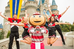 The Ohio State University Mascot Brutus Buckeye Celebrates the College Football Playoff National Championship at Disney World