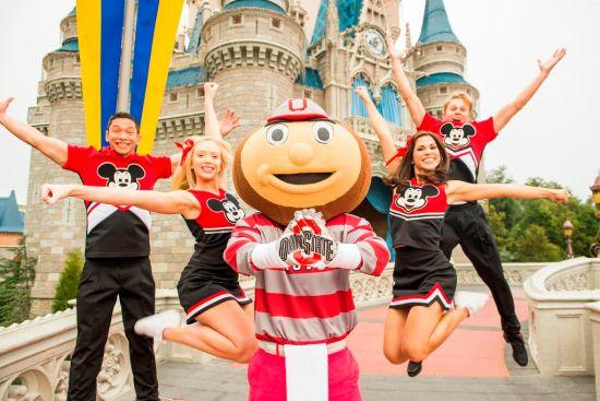 The Ohio State University Mascot Brutus Buckeye Celebrates the College Football Playoff National Championship at Disney World