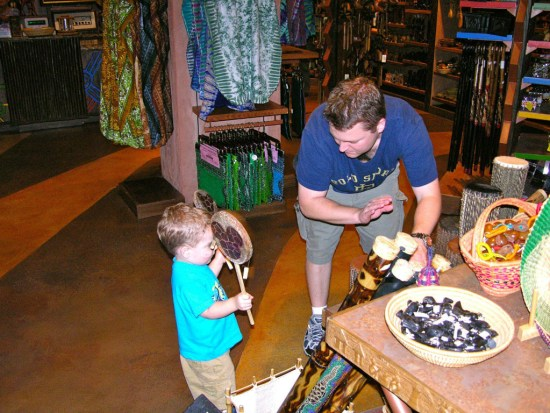 the Animal Kingdom Lodge gift shop was an attraction all its own