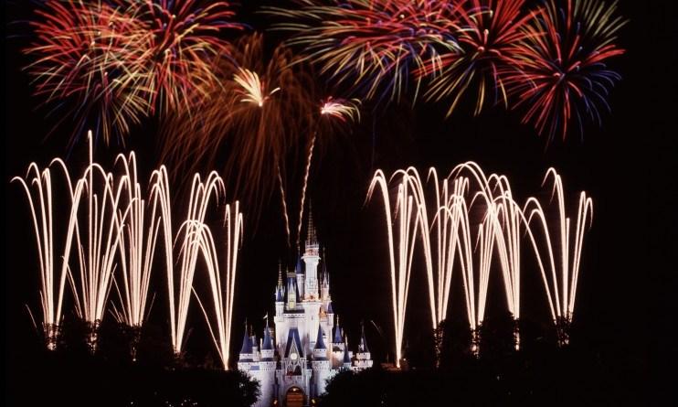 fireworks - cinderella castle