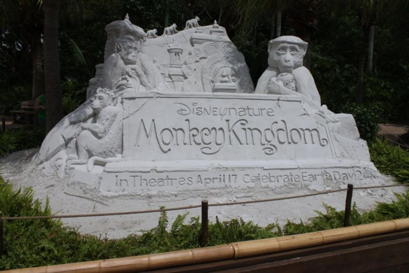 Monkey Kingdom Sand Sculpture - Wordless Wednesday