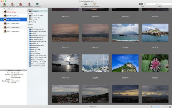 iPhoto Library Manager browse feature