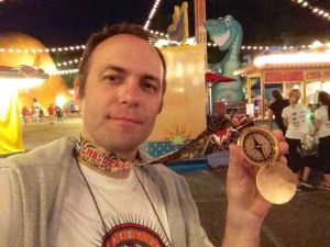 When you have done the race and the Scavenger Hunt, you receive this beautiful medal with a working compass.