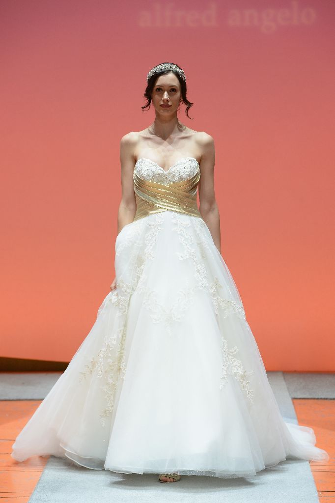 2016 Alfred Angelo Disney Fairy Tale Weddings Bridal Collection Fashion Show Debut Snow White