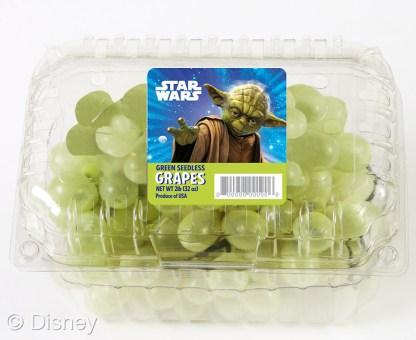 grapes Yoda star wars produce