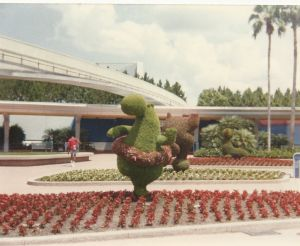 hippo topiary - epcot