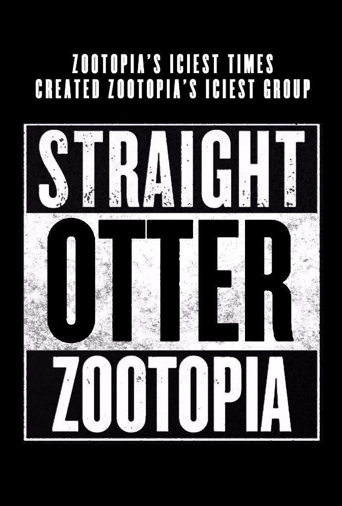 zootopia poster straight otter zootopia