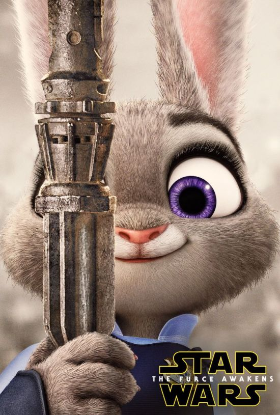 zootopia poster star wars furce awakens