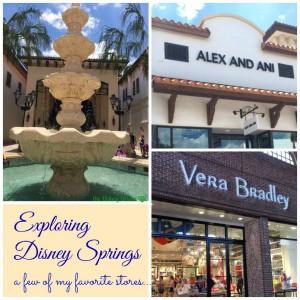 Disney Springs - alex and Ani Vera Bradley feature