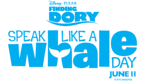 speak like a whale day finding dory
