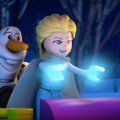 Frozen Nothern Lights Elsa and Olaf LEGO animated short
