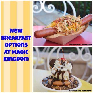 New Breakfast Options at Magic Kingdom