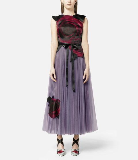 Christopher Kane Disney Beauty & the Beast Inspired Collection Rose Tulle Dress