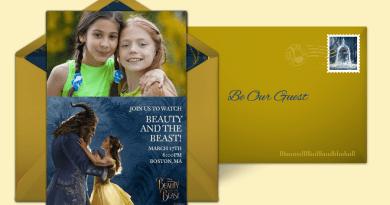 beauty & the beast punchbowl invitation
