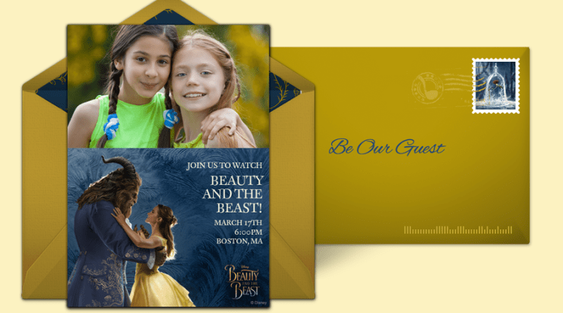 beauty & the beast punchbowl invitation