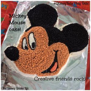 Mickey Mouse Cake #DisneyKids Play Date Disney Driven Life