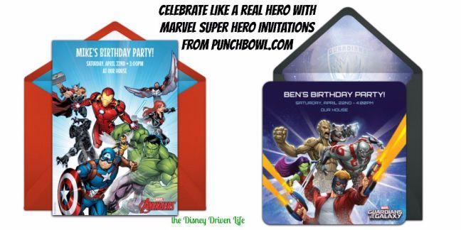 Marvel Super Hero Invitations Punchbowl