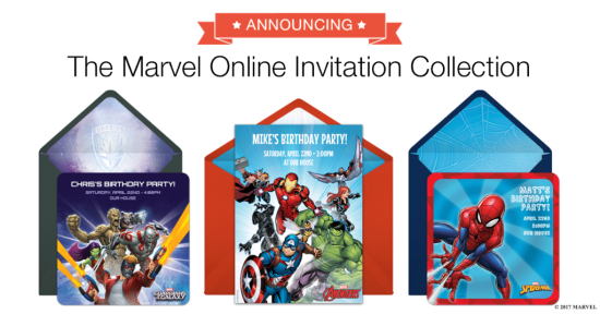 Marvel Super Heroes Invitations Punchbowl