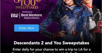 Descendants 2 and You Sweeps