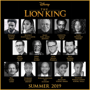 Lion King Live Action Cast