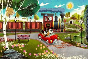 Mickey Minnie Railway Adventure Concept Art