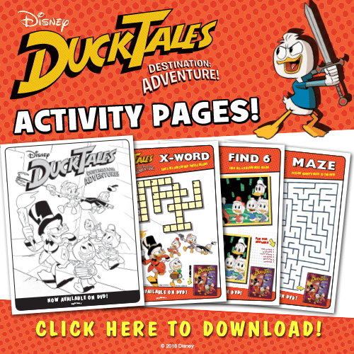 Duck Tales Activity page