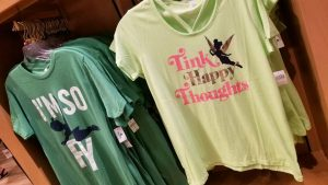 New World of Disney Peter Pan Tinker Bell shirts