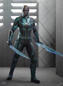 Korath Captain Marvel Kree character designs Ian Joyner