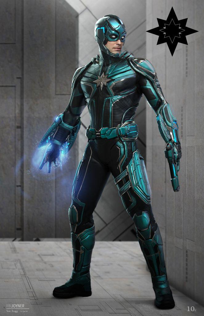 Yon Rogg Captain Marvel character designs Ian Joyner