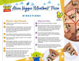 alien veggie meatball pizza