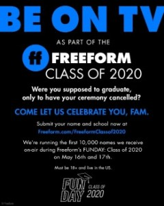 freeform class of 2020 funday