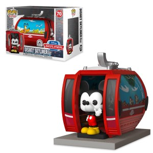 Disney Skyliner with Mickey Mouse Pop! Rides Vinyl Figure by Funko