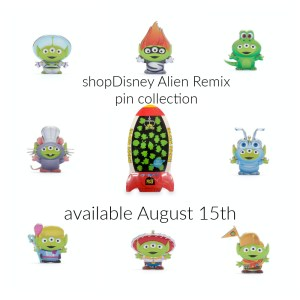 shopdisney alien remix pin collection