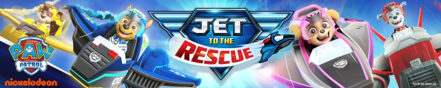 paw patrol jet to the rescue banner