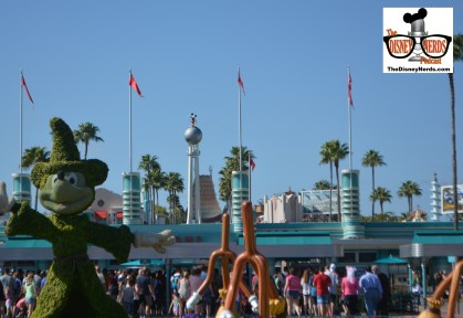 Headed to Hollywood Studios bright and early... The removal of the hat changes the park from every angle.. even outside.