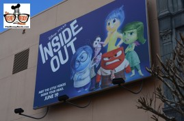Promotion poster for Inside Out located in Pixar Place