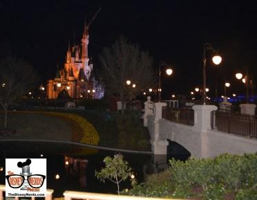 Magic Kingdom Hub Construction - View of the new Bridge (near caseys)