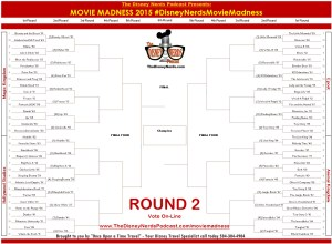 The Official Disney Nerds Podcast - 2015 Movie Madness Tournament