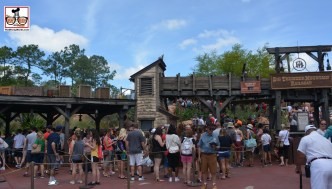 The end of Easter week included long stand by lines... Big Thunder switch backs all the way into the previous fast pass distribution area.
