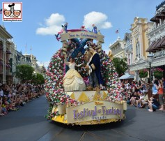 """Festival of Fantasy from the """"Town Square"""" Fastpass+ Viewing Location"""