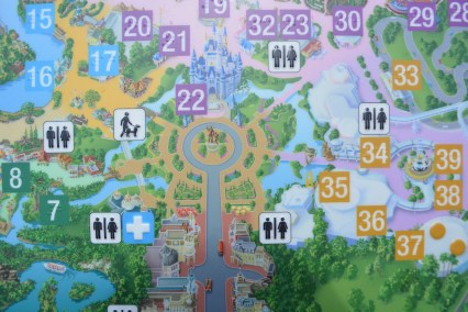 The Braille Map just outside of the plaza ice cream parlor shows the finished Hub.