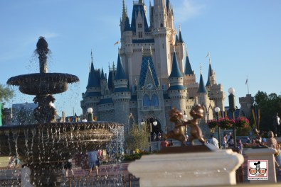 Day time view of the castle and new hub plaza